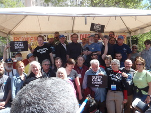 Alabama enviro groups at Power Past Coal Rally in Portland